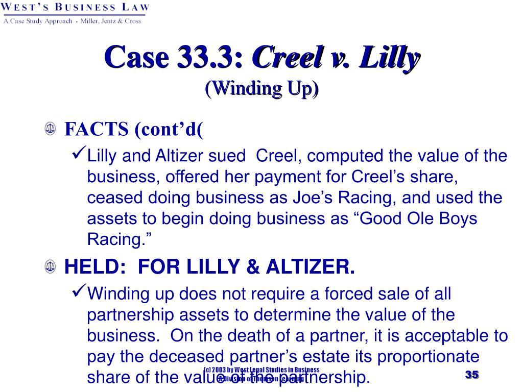 Case 33.3: