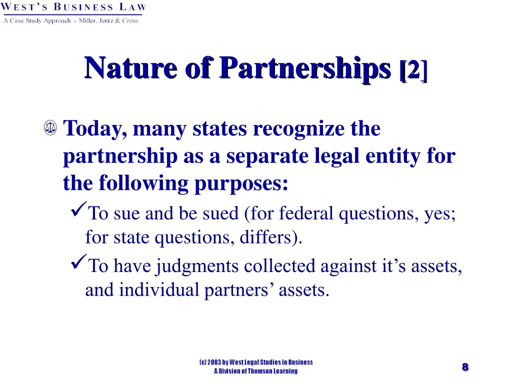 Nature of Partnerships
