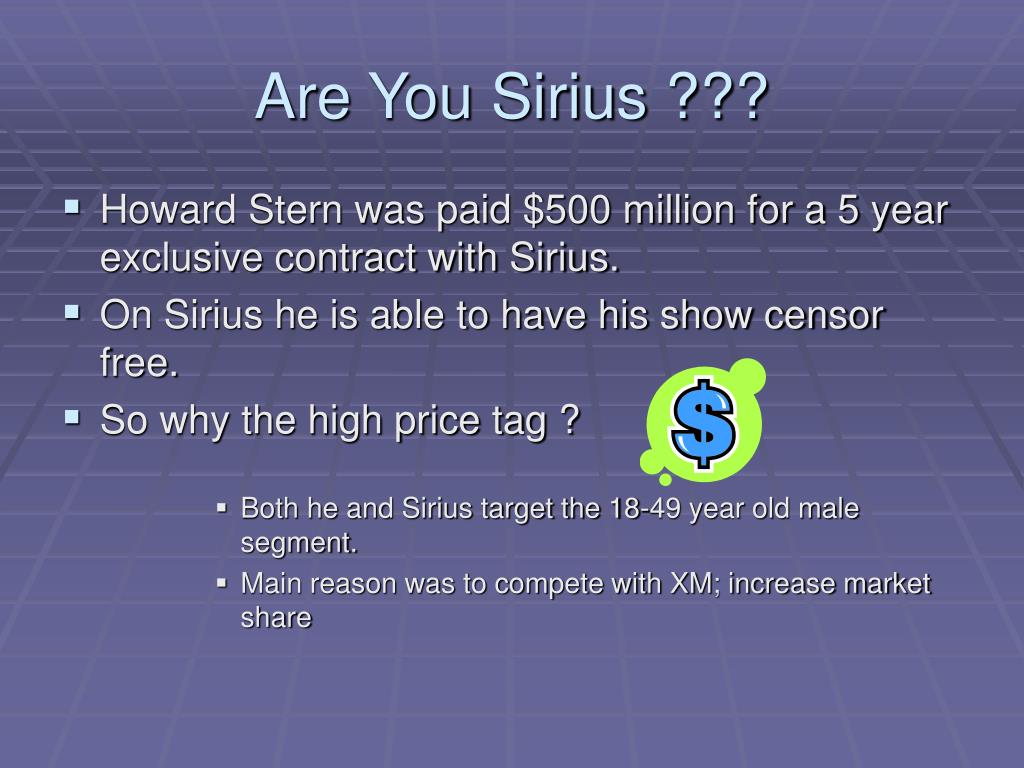 Are You Sirius ???