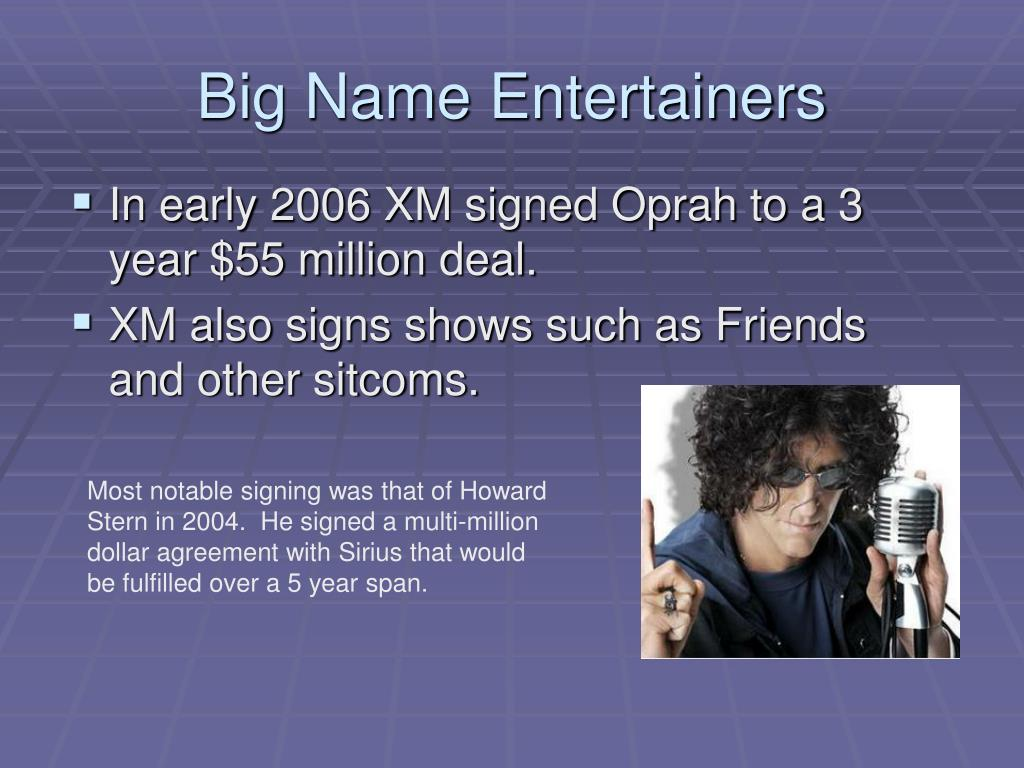 Big Name Entertainers