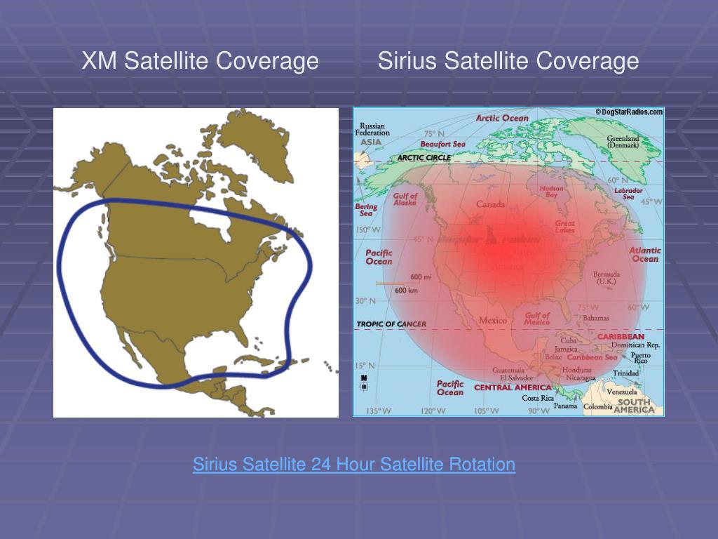 XM Satellite Coverage
