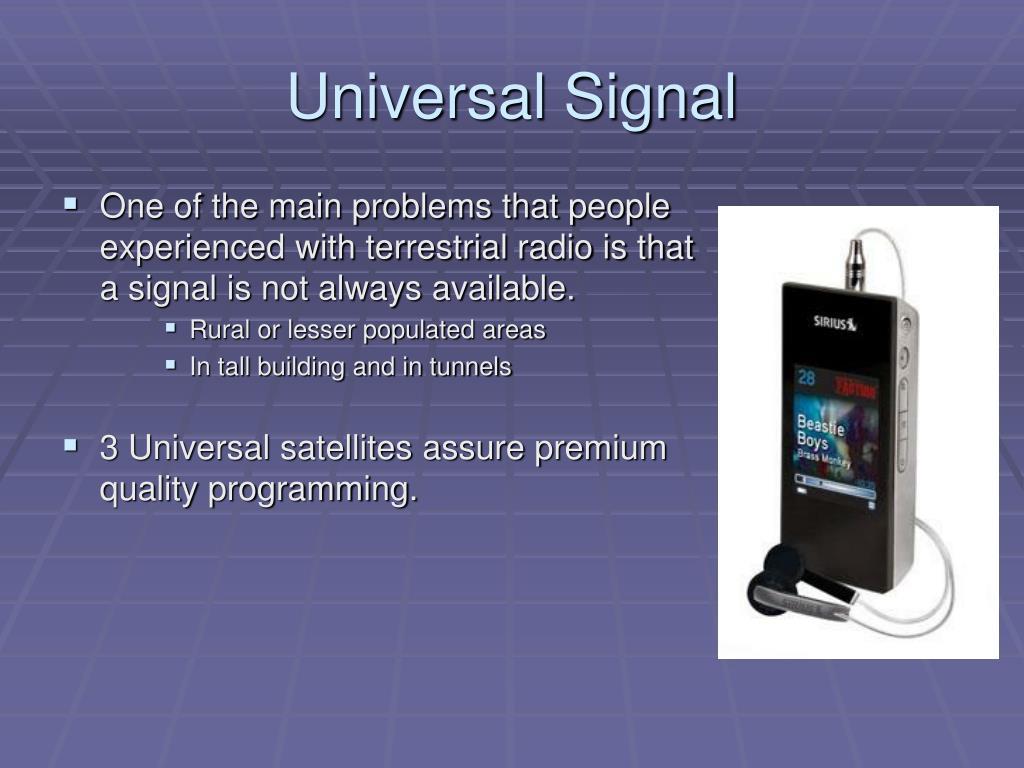 Universal Signal