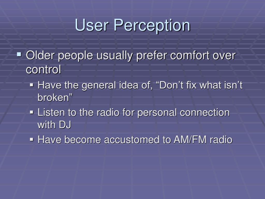 User Perception