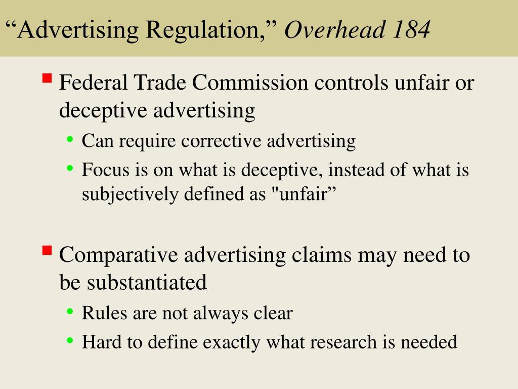 """Advertising Regulation,"""