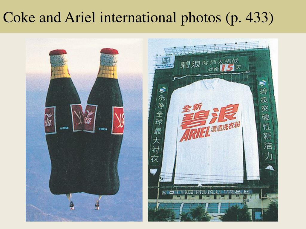 Coke and Ariel international photos (p. 433)
