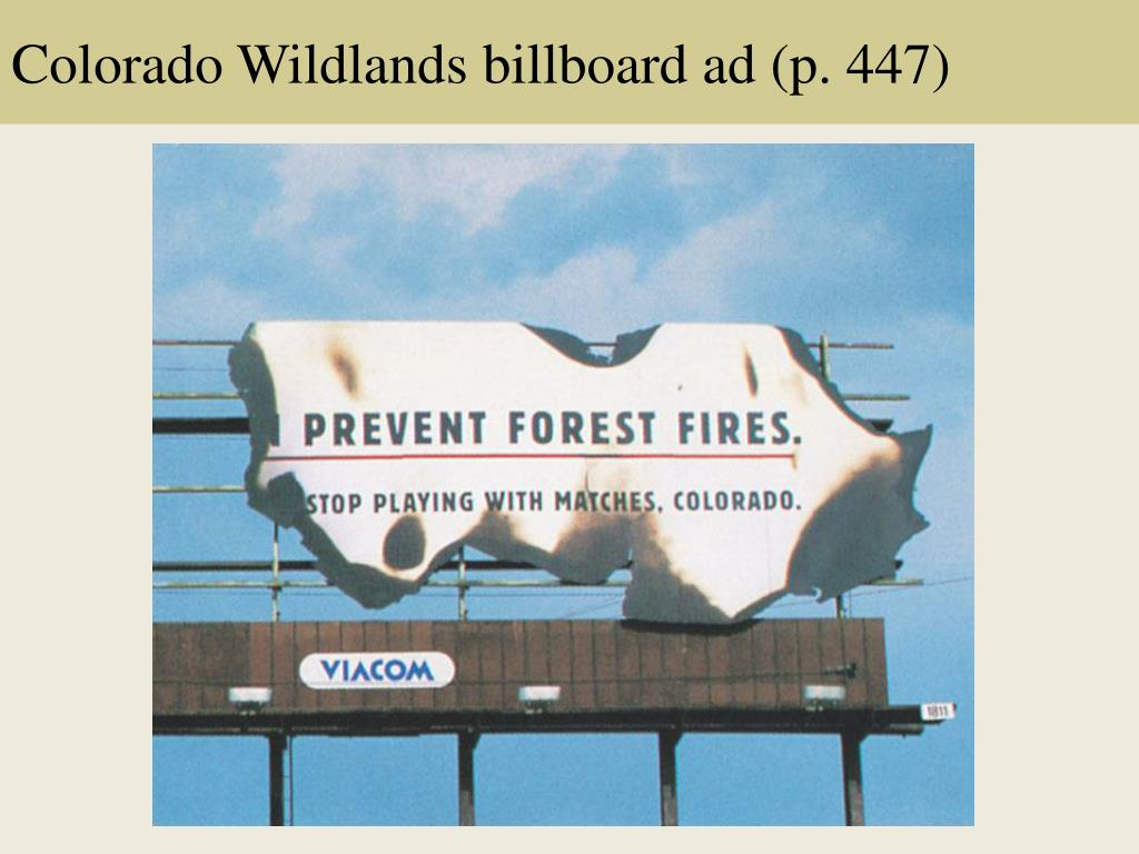 Colorado Wildlands billboard ad (p. 447)