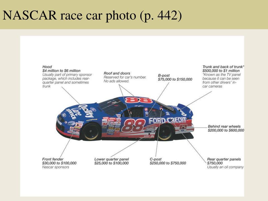 NASCAR race car photo (p. 442)