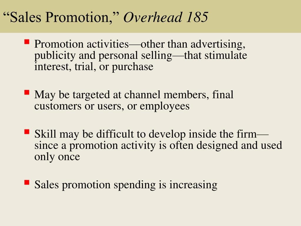 """""""Sales Promotion,"""""""