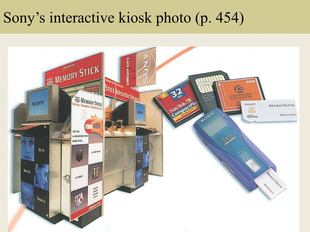 Sony's interactive kiosk photo (p. 454)