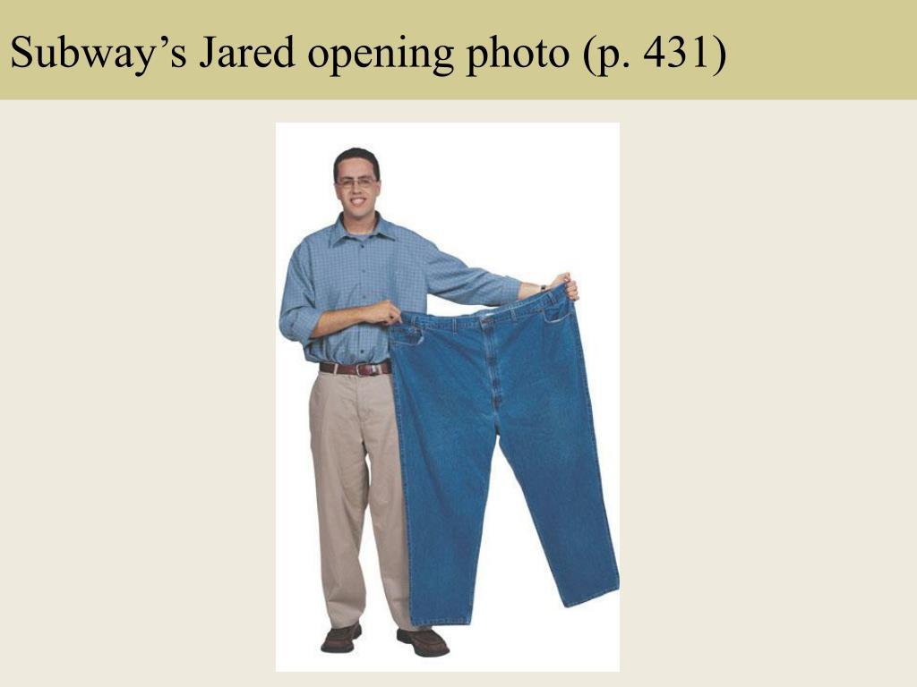 Subway's Jared opening photo (p. 431)