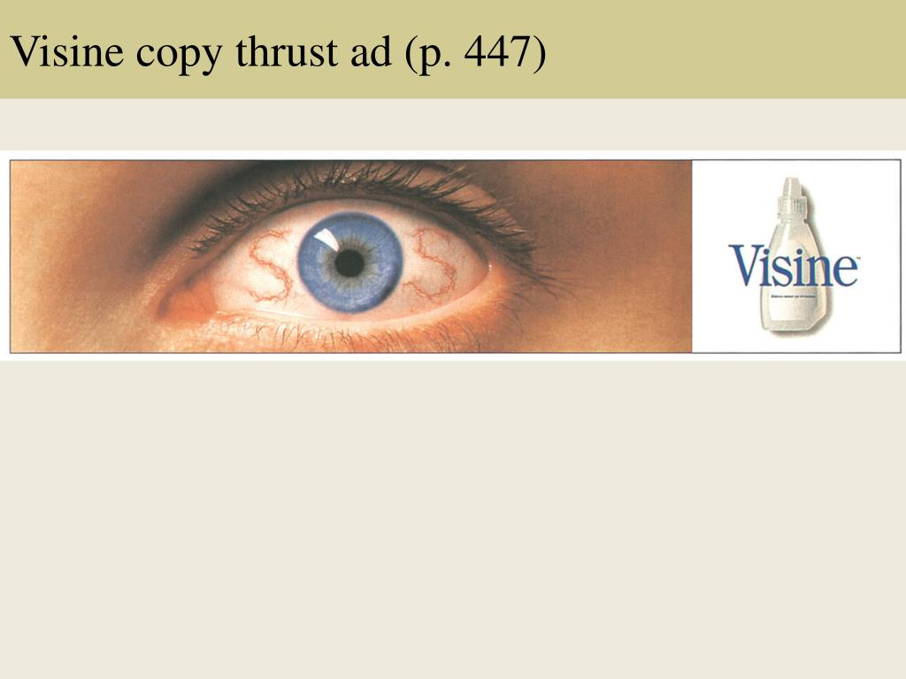 Visine copy thrust ad (p. 447)