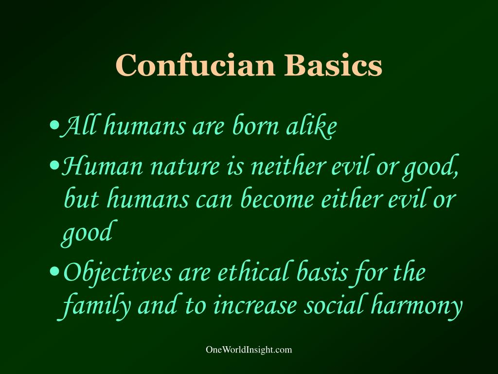 Confucian Basics