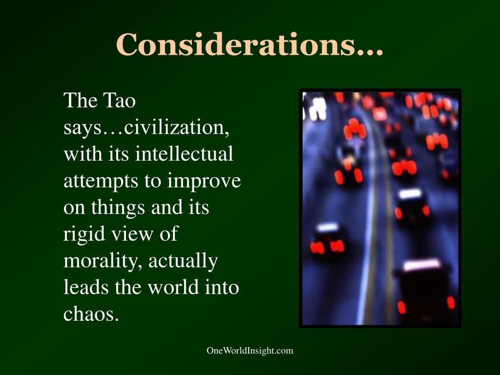 Considerations…