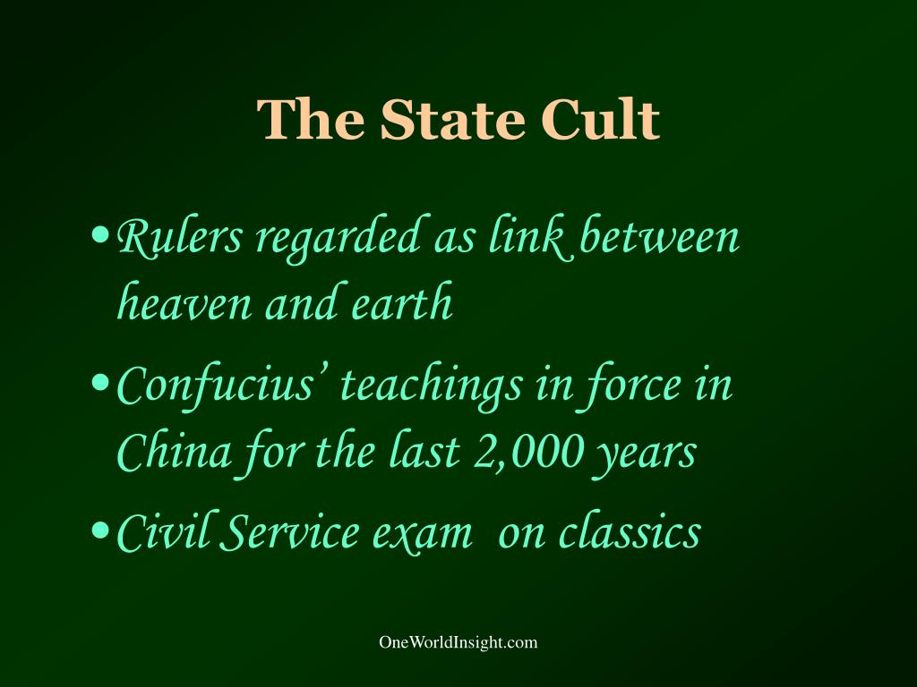 The State Cult