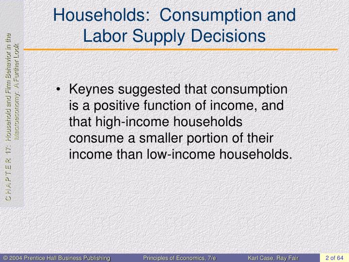 Households consumption and labor supply decisions