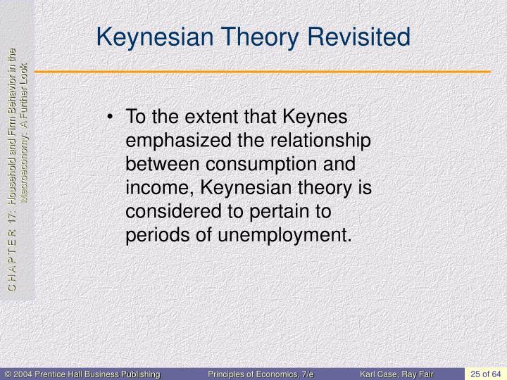 Keynesian Theory Revisited