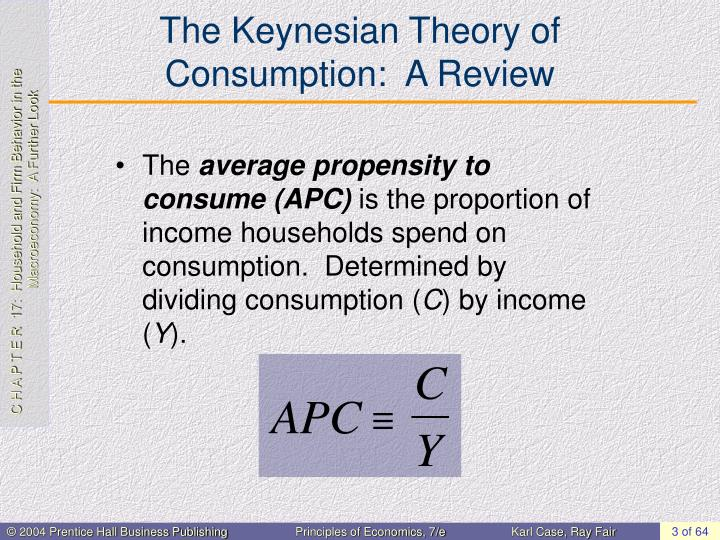 The keynesian theory of consumption a review