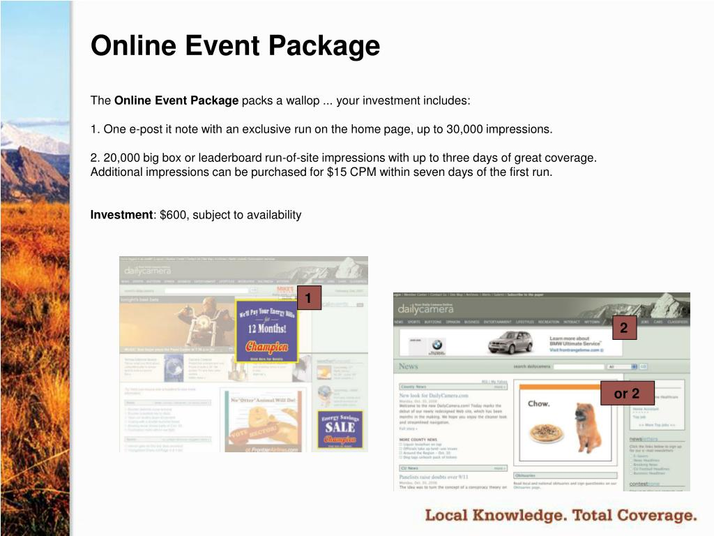 Online Event Package