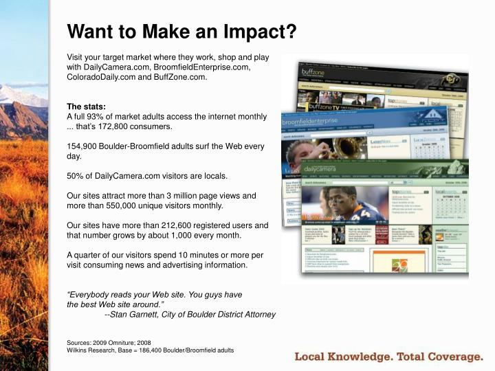 Want to make an impact