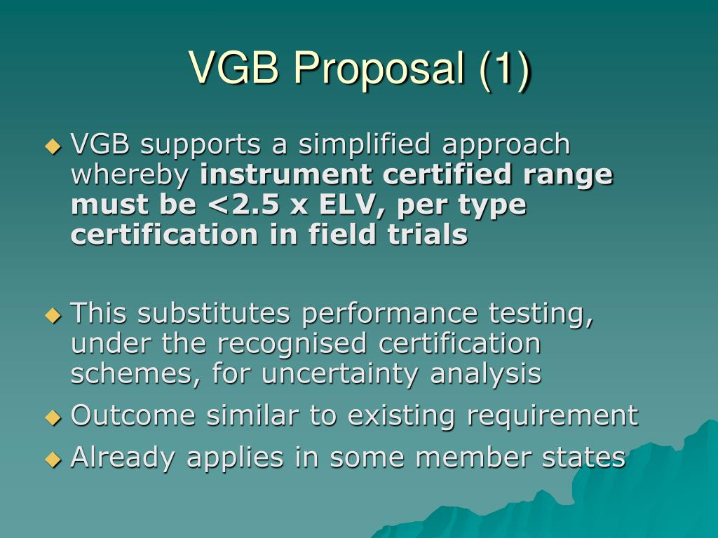 VGB Proposal (1)