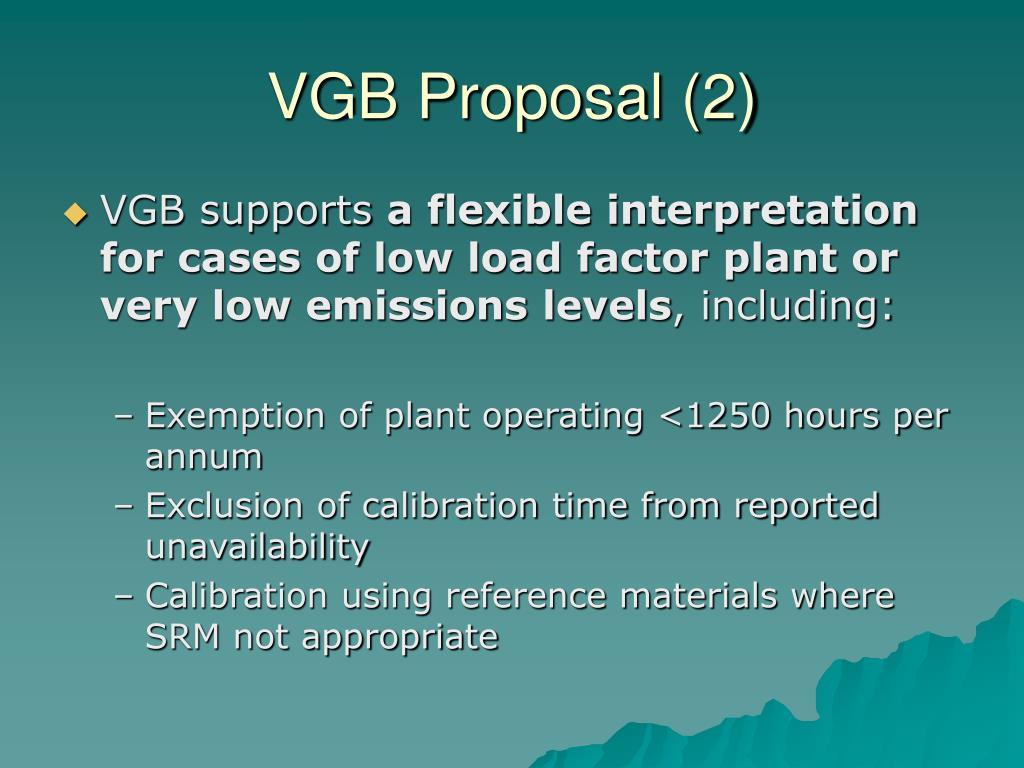 VGB Proposal (2)