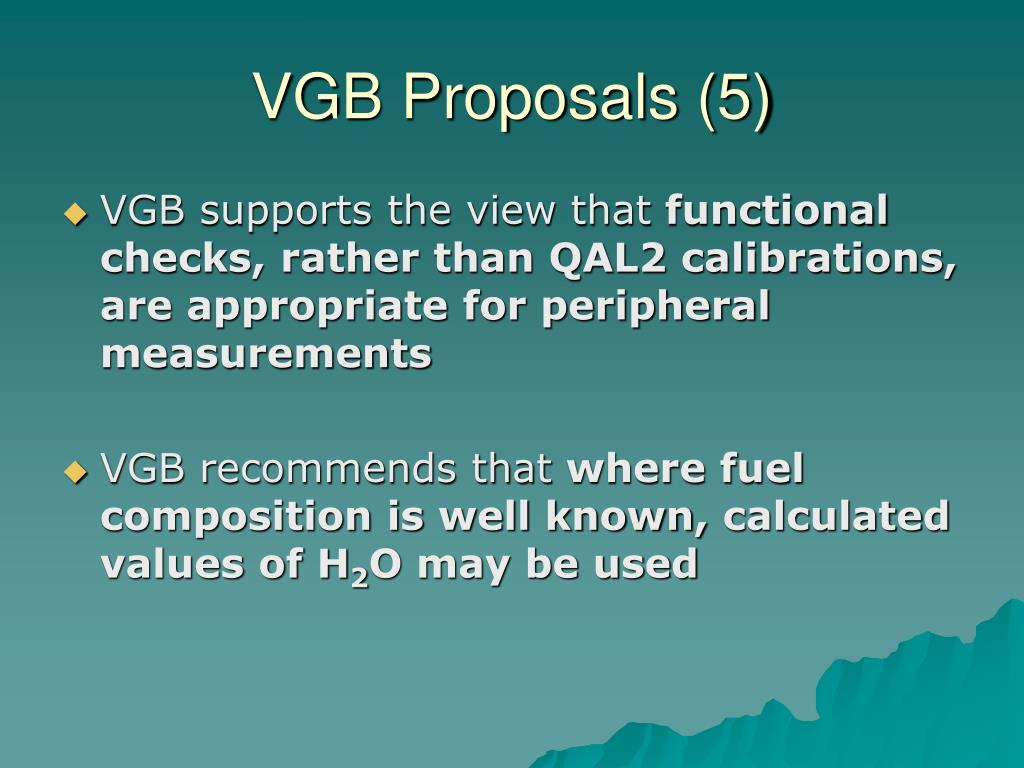 VGB Proposals (5)