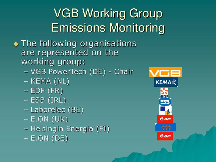 Vgb working group emissions monitoring