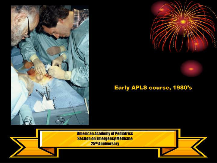 Early APLS course, 1980's