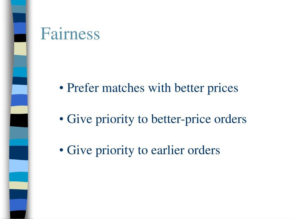 Fairness