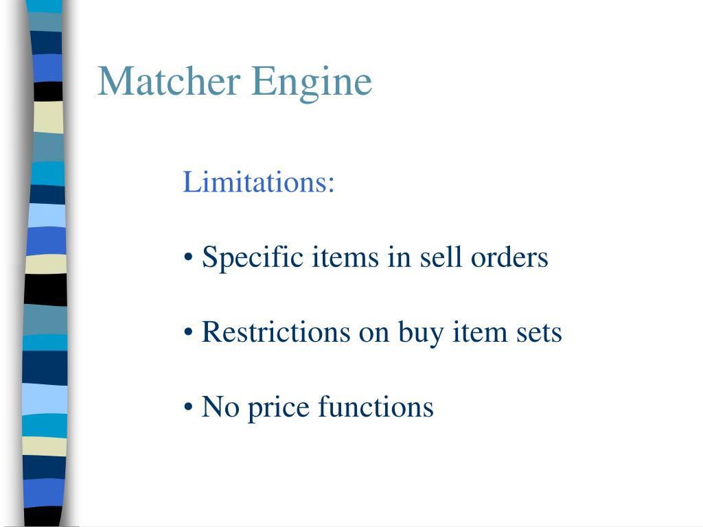 Matcher Engine