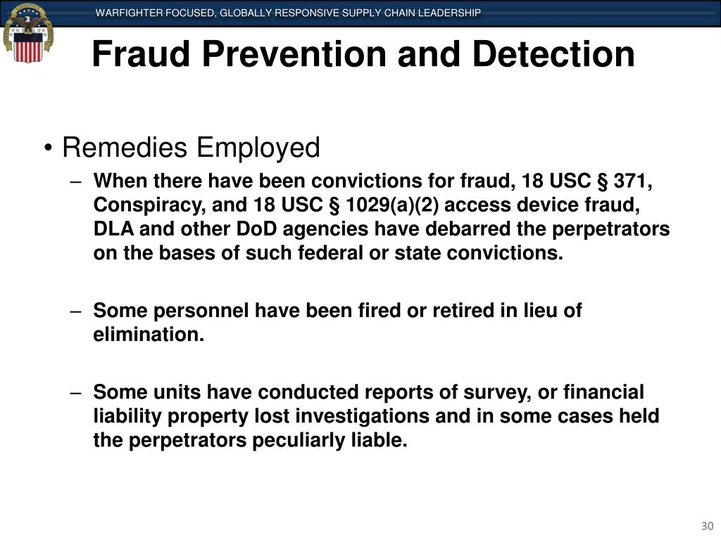fraud detection and deterrence