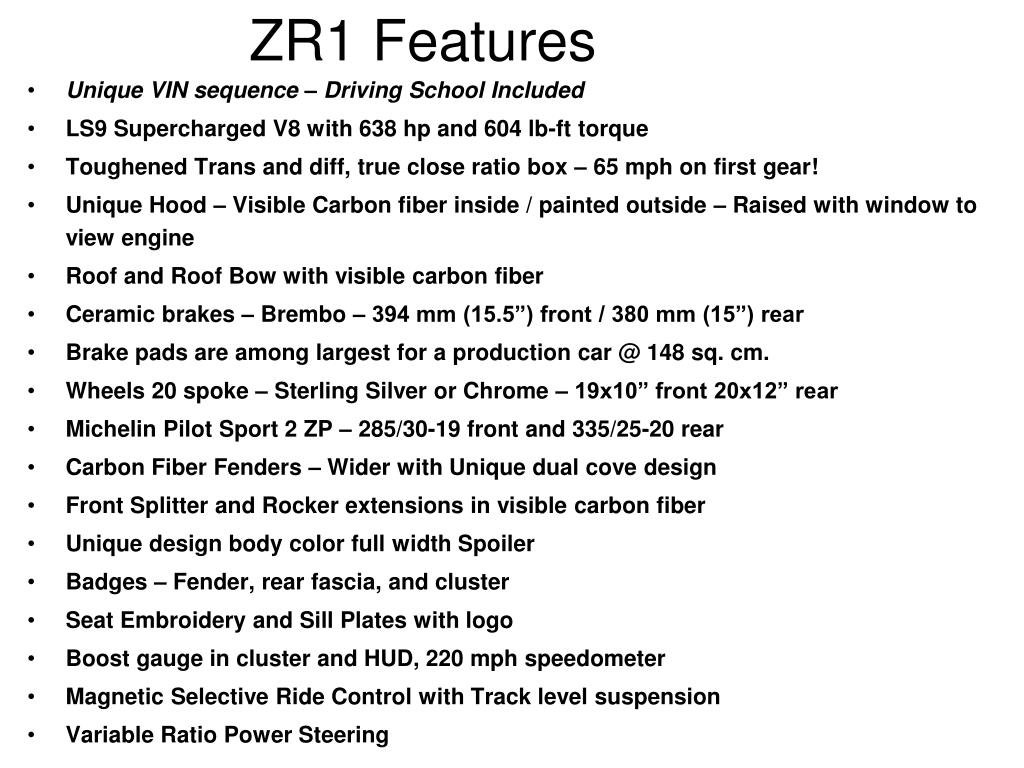 ZR1 Features