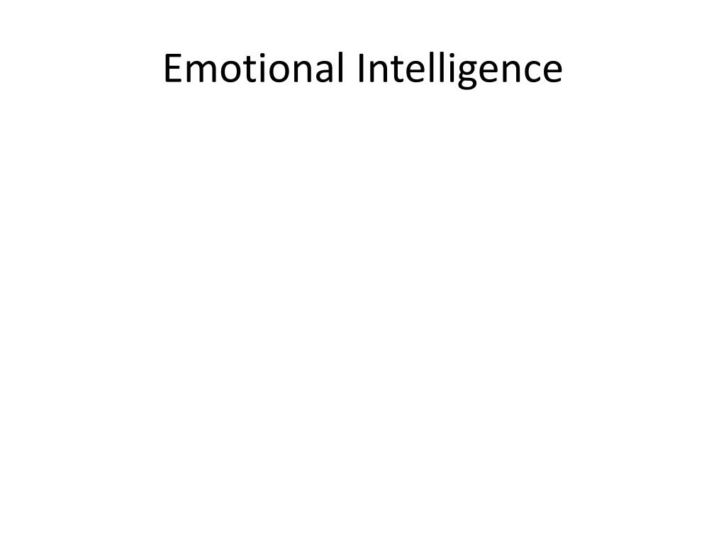 cognitive intelligence and emotional intelligence in For most people, emotional intelligence (eq) is more important than one's intelligence (iq) in attaining success in their lives and careers as individuals our success and the success of the.