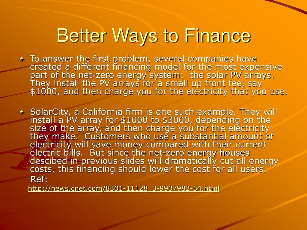 Better Ways to Finance