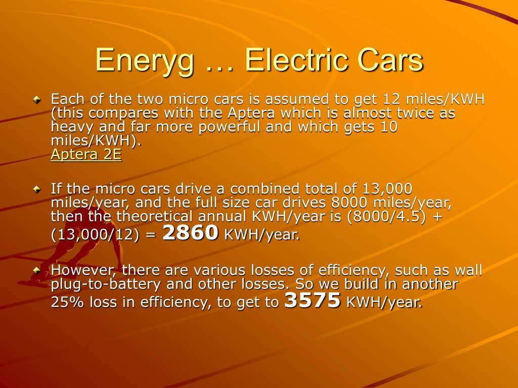 Eneryg … Electric Cars