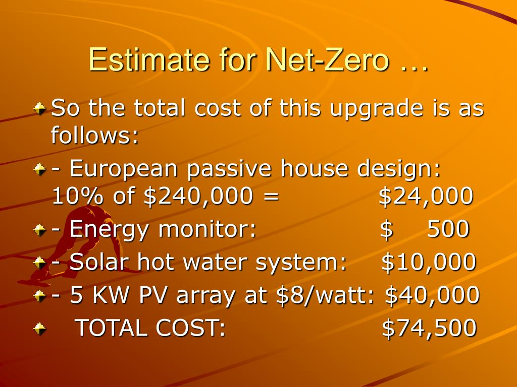 Estimate for Net-Zero …