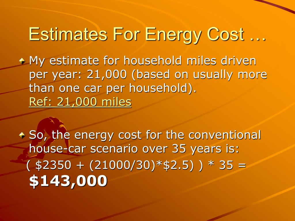Estimates For Energy Cost …
