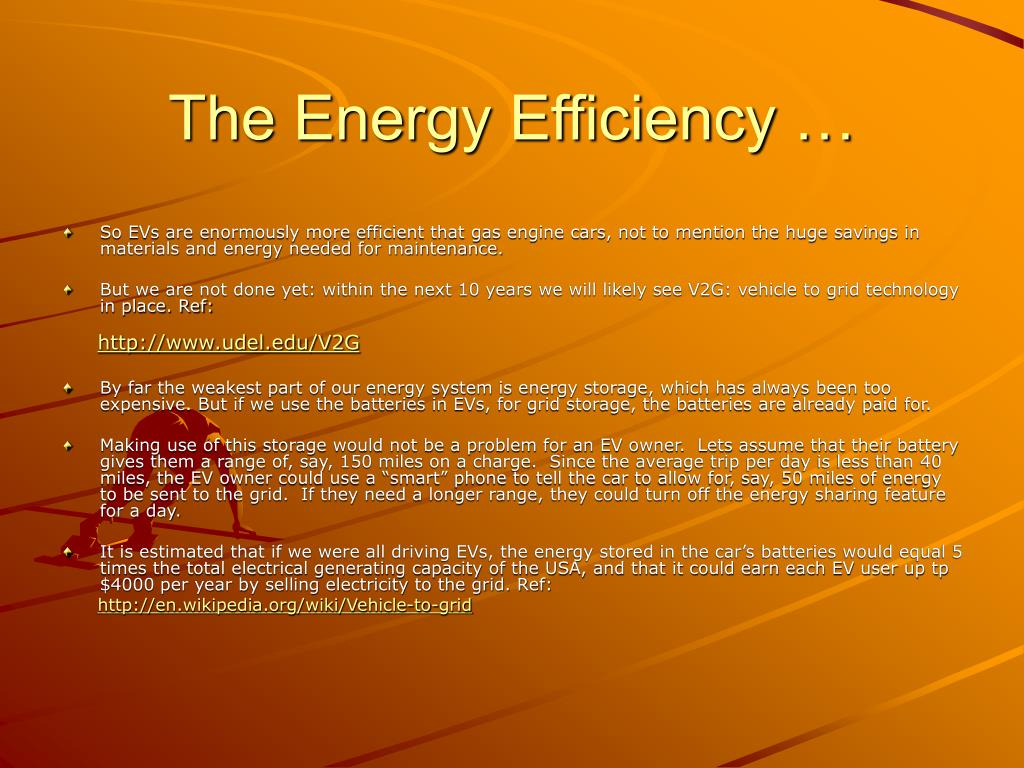 The Energy Efficiency …