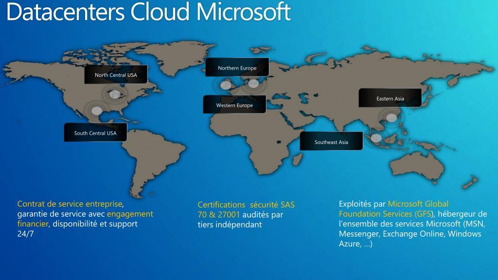Datacenters Cloud Microsoft