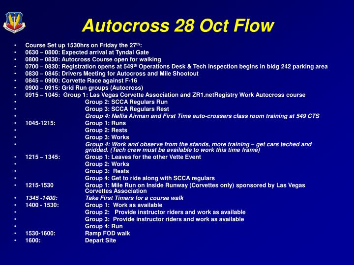 Autocross 28 oct flow