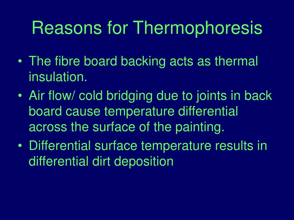 Reasons for Thermophoresis