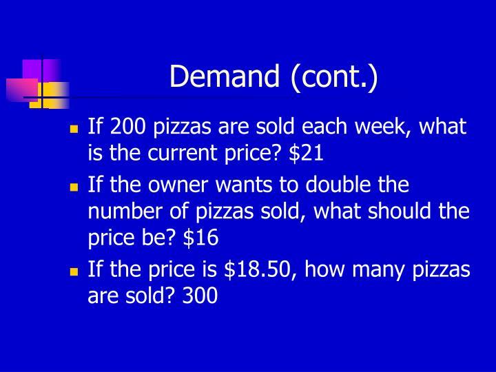 Demand (cont.)