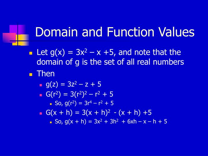 Domain and Function Values