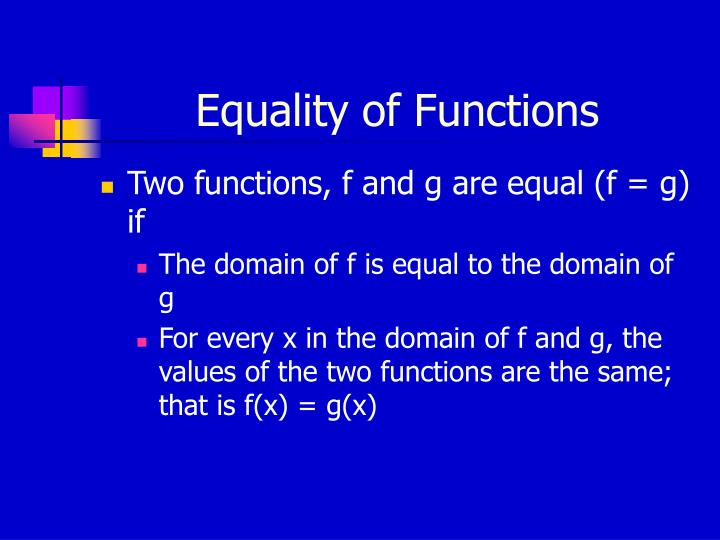 Equality of Functions