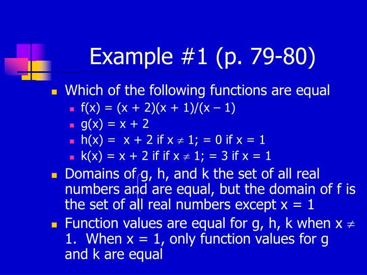 Example #1 (p. 79-80)