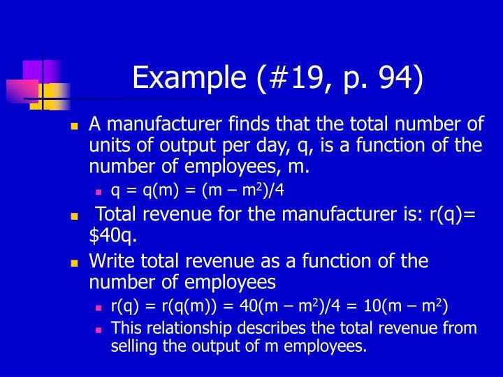Example (#19, p. 94)