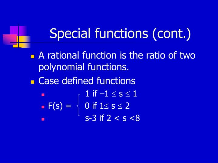Special functions (cont.)