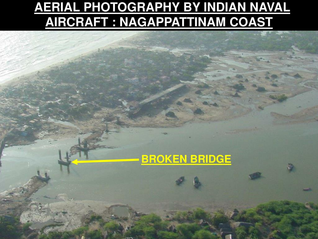 AERIAL PHOTOGRAPHY BY INDIAN NAVAL AIRCRAFT : NAGAPPATTINAM COAST