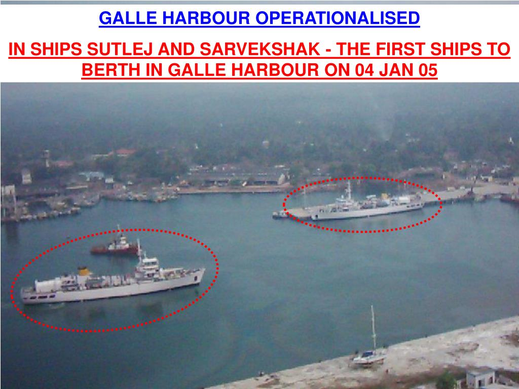 GALLE HARBOUR OPERATIONALISED