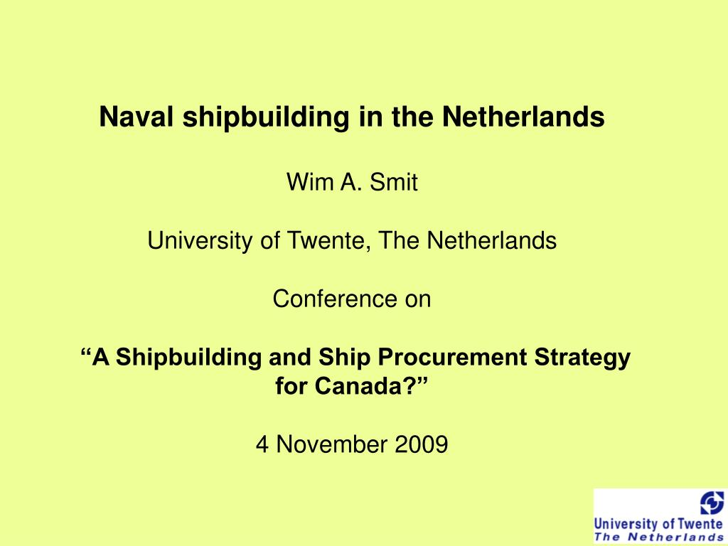 Naval shipbuilding in the Netherlands